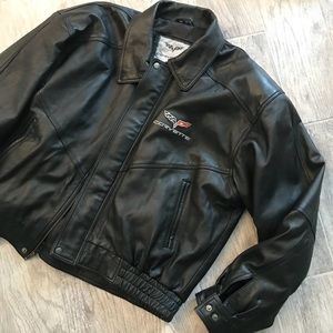 Corvette Jackets & Coats - Corvette leather bomber jacket